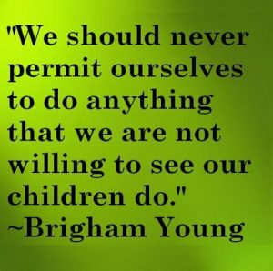 Motivational Quote on parents: We should never allow ourselves to do anything