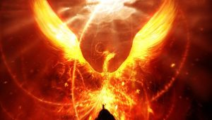 Motivational Quote on Phoenix: Be Like a Phoenix every time you think its all over