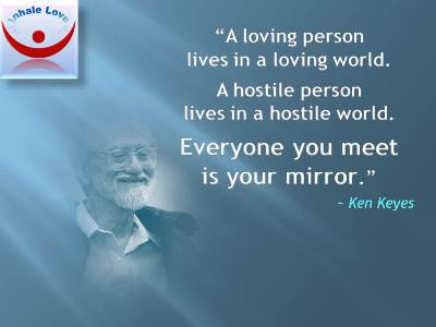 Motivational Quote on World: A loving person lives in a loving world.