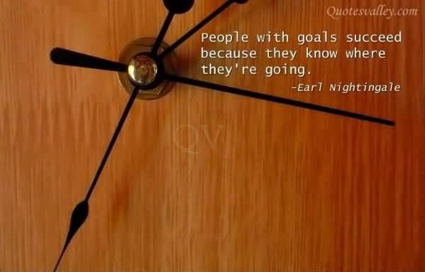 Motivational Quote on people with Goals: People with goals succeed because they know where they are going