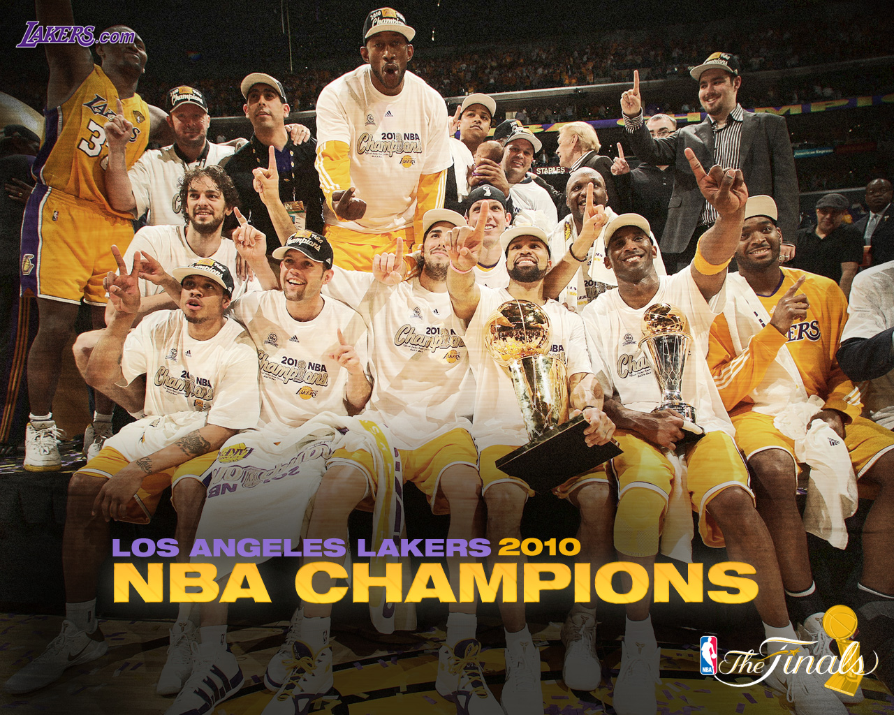 Lakers Logo on Los Angeles Lakers Nba 2010 Champions Wallpaper Winners Lakers