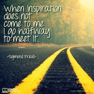Motivational Quote on Inspiration: When inspiration does not come to me