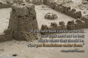 Motivational Quote on Castles in Air : If you have built castles in air