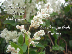 Motivational Quote on Think: You Are What You Think You Are