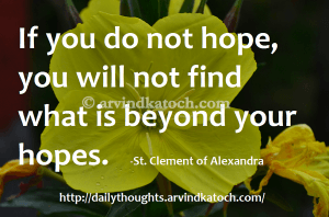 Motivational Quote on Hope: you will not find what is beyond your hopes