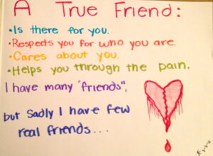 Motivational Quote on True friend: A true friend is one ,who finds you in a rush of people
