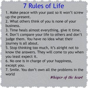 7 rules of life @dontgiveupworld