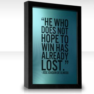 Motivational Quote on Hope and Loss: He who has not HOPE to win has already LOST..