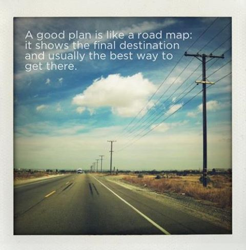 Motivational Quote on a Planning: A good plan is like a road map It shows the final destination