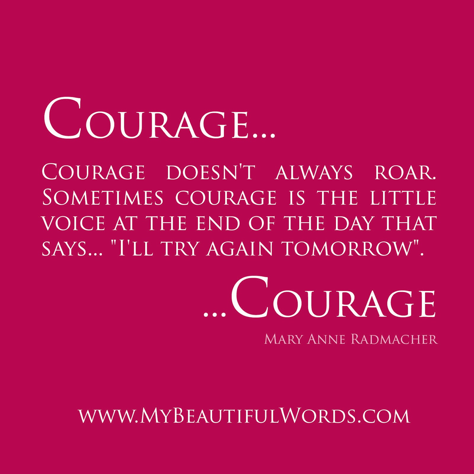 Inspirational Courage Quotes: Motivational Quote On Courage: The Biggest Obstacles To