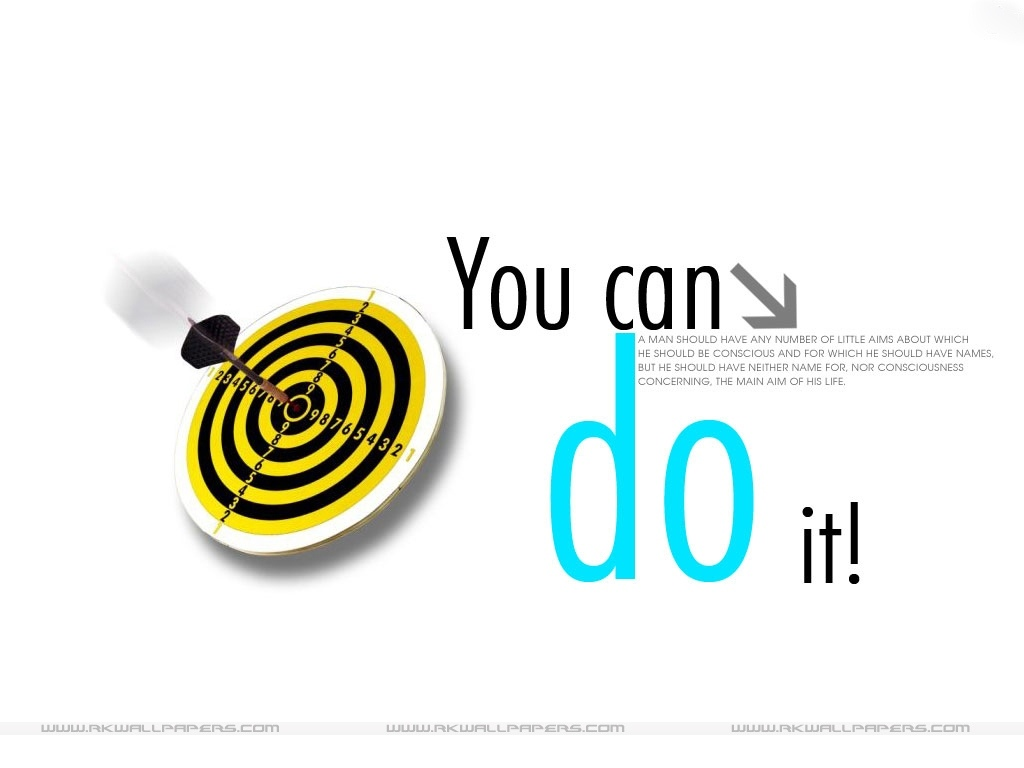 Motivational Wallpaper On Achieving Your Target You Can Do It