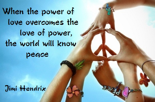 Motivational Quote on power of love: WHEN THE POWER OF LOVE