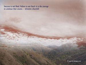 Motivational Wallpaper on Success :Success is not Final Quote by Winston Churchill