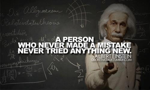 Motivational Quote on Mistake: The person who never made a mistake
