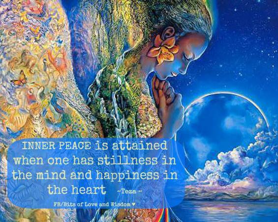 Motivational Quotes on Happiness: Inner peace which is the principle soul of happiness