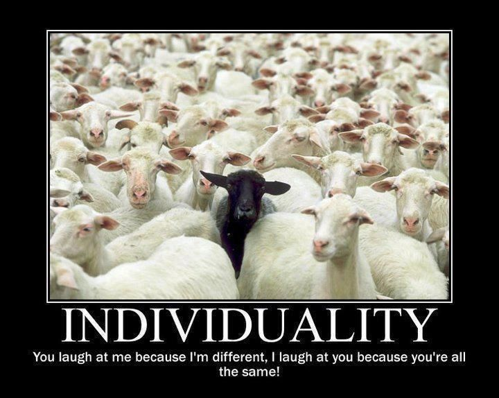 Motivational Quote on Individuality: If you realize that everyone is an individual