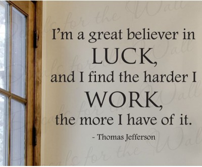 Motivational Quote on Luck: A good thing about bad luck & bad thing