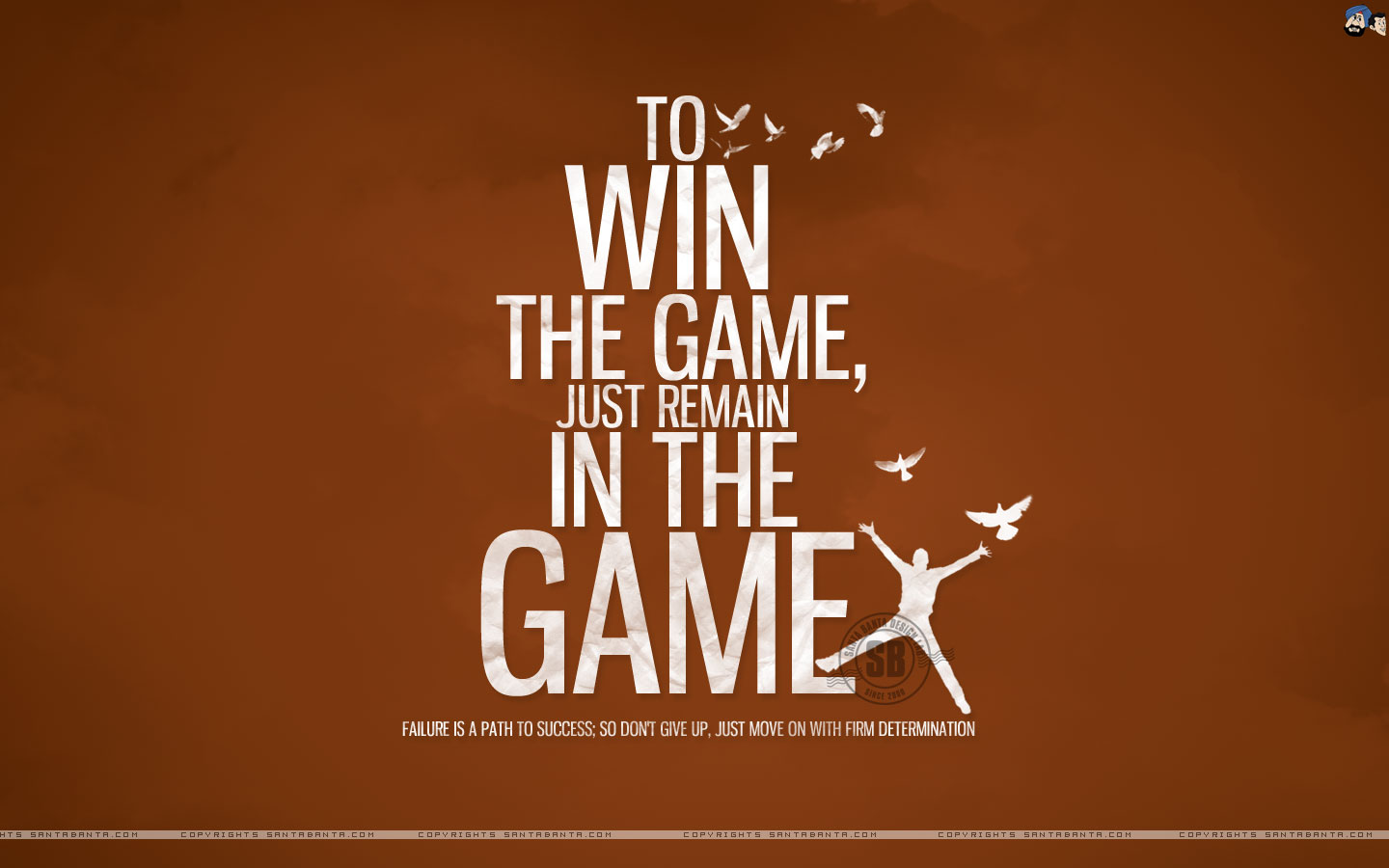 Motivational Wallpaper On Winning To Win The Game