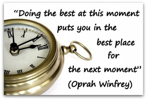 Motivational Quote on Best Place: Doing the best at this moment puts you in the best place