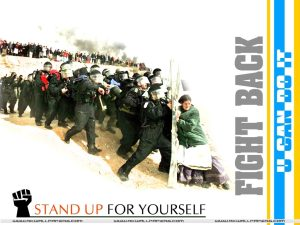 Motivational wallpaper on Fight Back : Fight back stand for your self