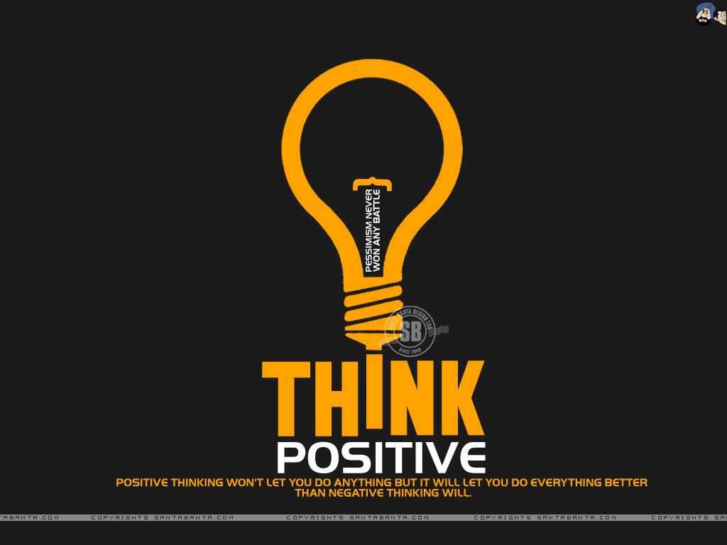Motivational wallpaper on Positive Thinking : Positive Thinking will let you