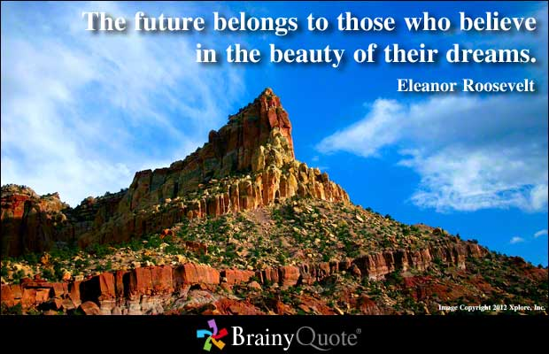Motivational Quote on Dreams: The future belongs to those