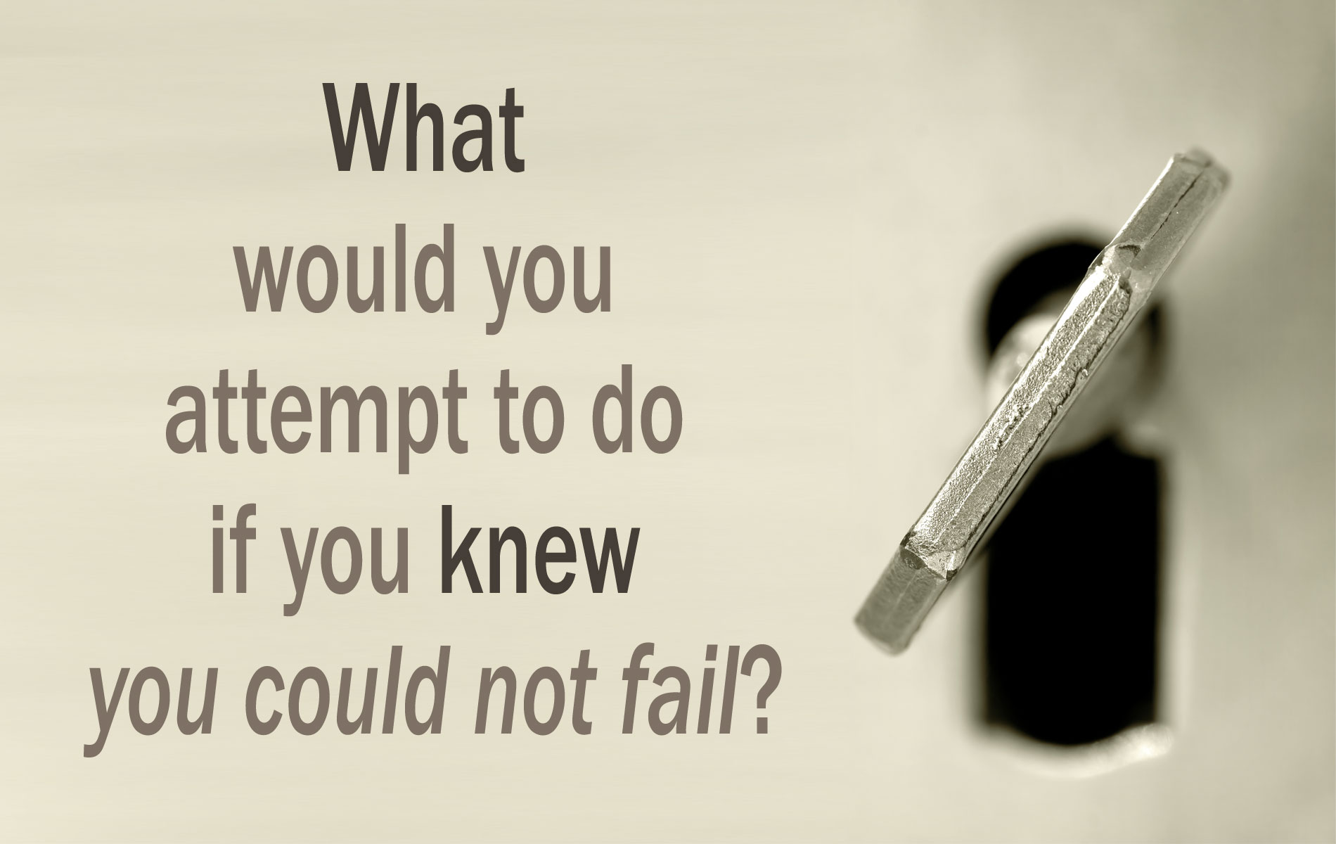 Motivational Quote on Failure: What would you attempt to do
