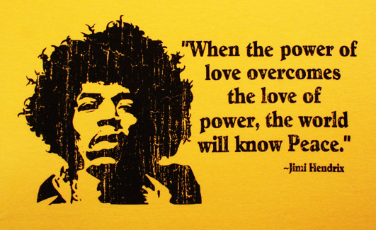 Motivational Quote on Peace: When the power of love overcomes the love of power