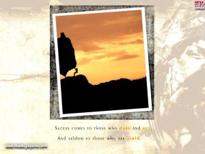 Succes comes to those who dare and act motivational wallpaper dontgiveup! (126)