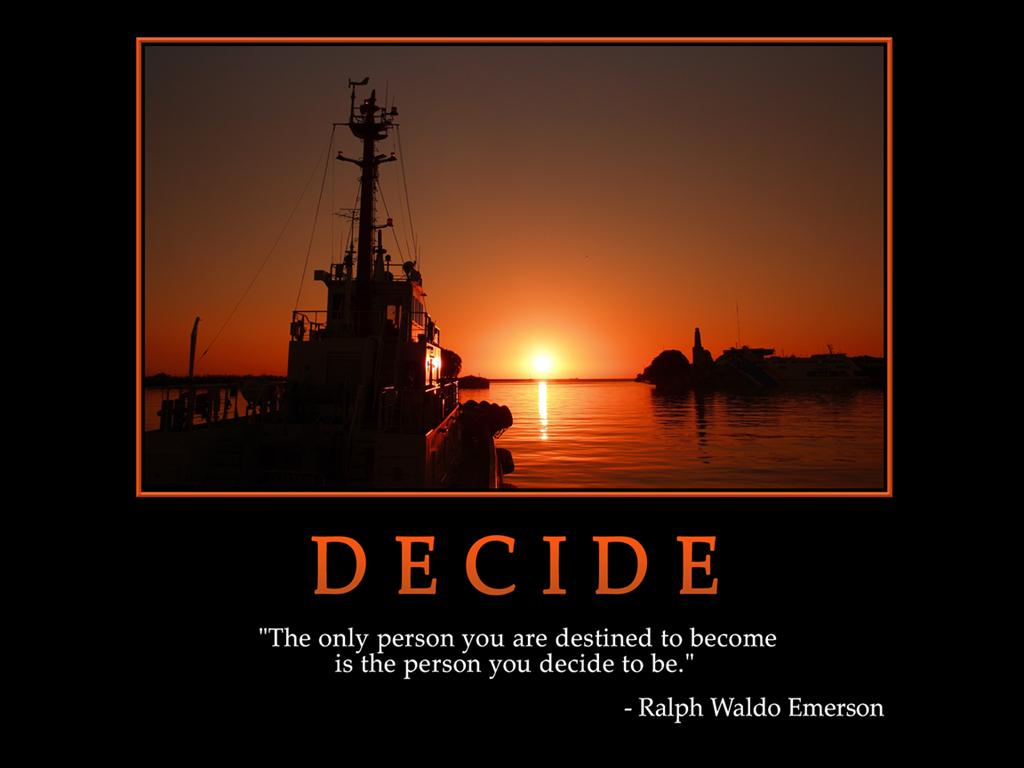 Motivational Wallpaper On Destiny And Decide Ralph Waldo Emerson
