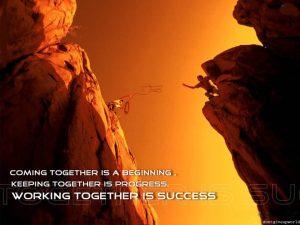 team and success motivational wallpaper