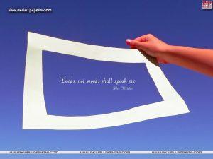 deeds not word shall speak me  motivational wallpaper dontgiveup! (66)