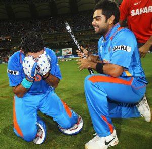 Tears of Joy Yuvraj and Kohli