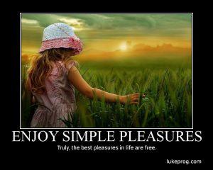 Motivational Wallpaper on Pleasures :  Enjoy Simple Pleasures