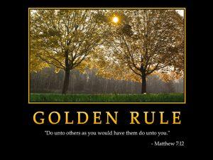 Motivational Wallpaper on Behaviour : The Golden Rule