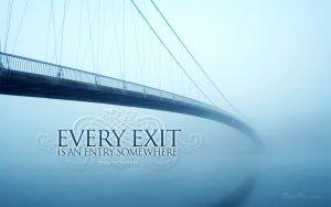 Motivational Wallpaper on Exit