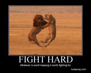 Motivational Wallpaper on Fight Hard
