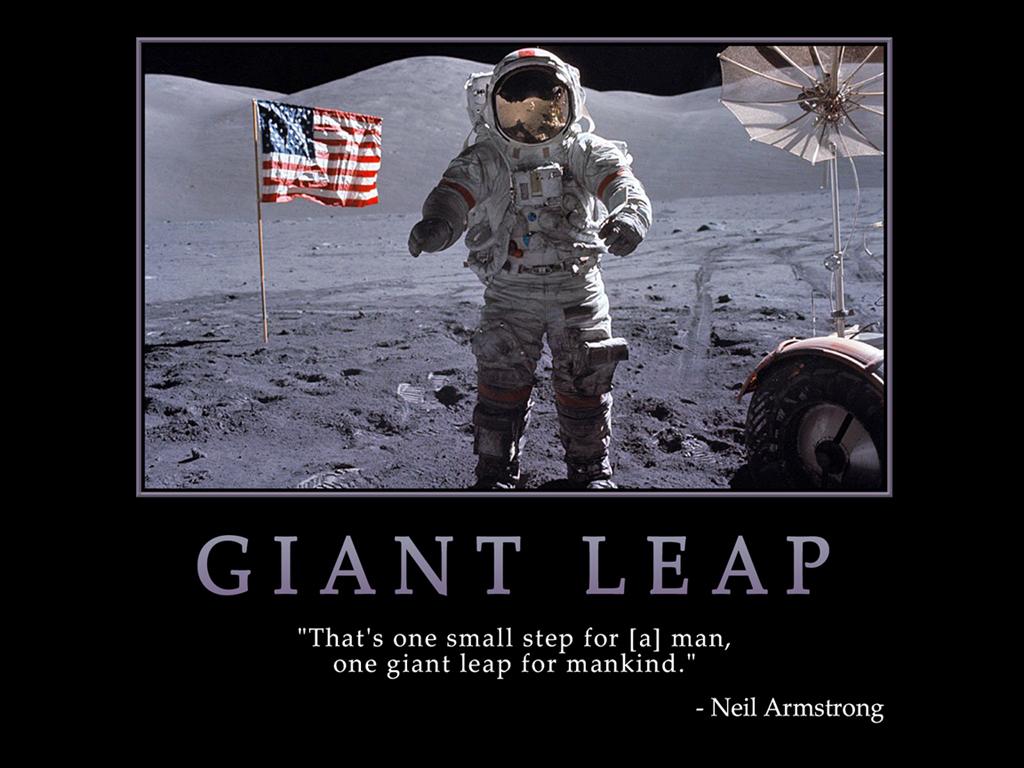 Motivational Wallpaper on Achievement : Neil Armstrong on ...