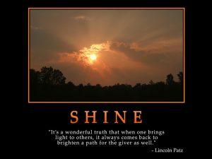 Motivational Wallpaper on Shine