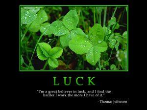 Motivational Wallpaper on luck