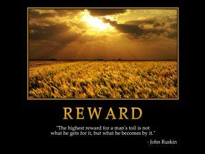 Motivational Wallpaper on reward