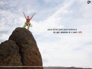 Motivational Wallpaper on Happy Life