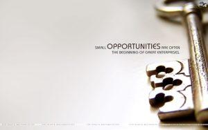 Motivational Wallpaper on Opportunities