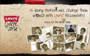 Levis Change your world Fellowship winner Arun Pandit dontgiveupworld.com