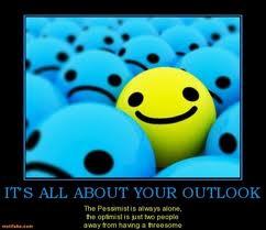 Motivational Quote on Optimist-Pessimist