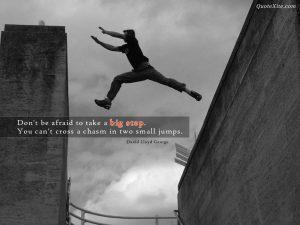 Motivational Wallpaper on Big Step