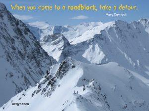 Motivational Wallpaper on Roadblock