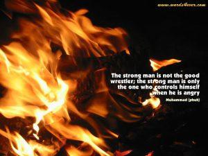 Motivational Wallpaper on Strength : The strong man is not the good wrestler