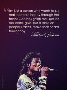 Motivational Wallpaper Michael Jackson I want to make people happy