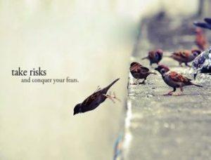 Motivational Wallpaper on taking Risks